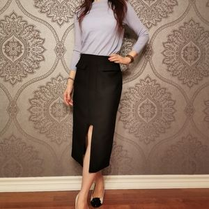Finders keepers black pencil skirt front split